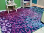 Kids Bedroom - Love the Monet Water Lily carpet!
