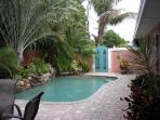 Private solar heated saltwater pool