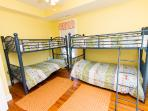 Dual bunk beds on the second floor