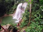 Gozalandia -Roble Waterfall, San Sebastian, PR. Distance  34km or 45 minutes from the condo