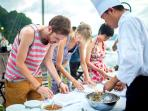 Bhaya's cooking class is one of the most popular on-board activities
