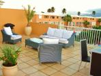 Private Terrace with a direct view to El Yunque (rainforest)