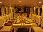 Luxuriously designed dinning room suitable for family and groups