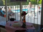 Wedding celebrations by our swimming pool