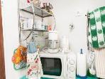 Mini-kitchenette in the Buddha suite