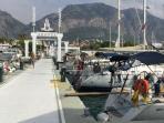 Yachts at Gocek marina.