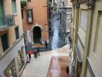 View  of via Mazzini