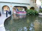River barge on the San Antonio River