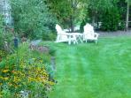 Sit outside and enjoy the gardens and landscaped yard. - 58 Longs Lane Chatham Cape Cod New England Vacation Rentals