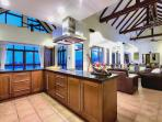 Spacious modern style European kitchen - with full amenities