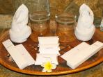 Bathroom amenities available always