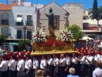 Statue of San Barnabe is paraded through Marbella on his feast day
