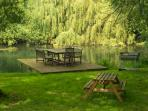 Relax by the water at Fletland Mill.
