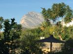 The majestic Mongo mountain as seen from the garden.