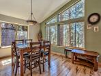 Open concept breakfast nook.  Enjoy your coffee while enjoying outdoor views!