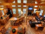 Arial View of Living Area