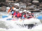 Summer time fun whitewater rafting