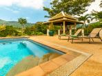 Mountain View Villas - 17m pool with huge poolside terrace and sunbathing area.