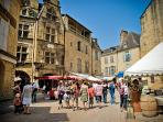 Sarlat Market on a Saturday, a great day to experience