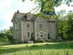 The front of Château de la Perche