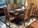 DINING AREA 8 SEATER DINING TABLE GAS HEATER