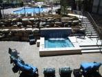 Pool and hot tub at the resort