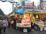many fresh fish market in Ueno