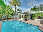 Beautiful, Tropical private backyard with private pool!
