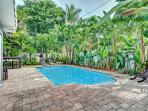 Tropical Landscaping makes for a very private pool area!