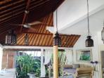 Tropical living in classic old charm Balinese bungalow
