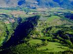 Panoramic view of Cal Pesolet Eco Turisme Rural, Nèfol and the Cerdanya Valley