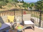 Balcony with sea views - ideal place to enjoy a your breakfast.