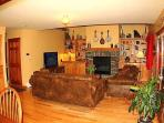 Living Room - 55 inch HDTV - Gas Fireplace