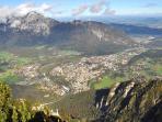 Met de Predigtstuhl omhoog en daar wandelend door de bergen naar de Karkopf en de Dreisesselberg.