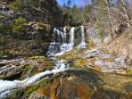 De Weißbach Wasserfälle, op slechts 15/20 minuten lopen van ons appartement.