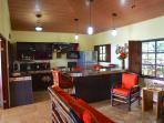Indoor Living Room and Kitchen