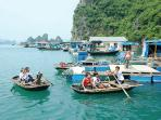 Vung Vieng floating fishing village is an ideal space to see the way local people live on the bay