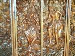 Balinese Wooden door carving