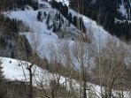 View of Aspen Mountain from living room