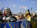 Roman legionaries on the march