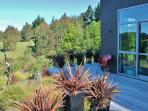 Gorgeous views of farm, trees, mountains, sea. 7 acres of space and tranquillity.