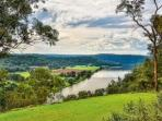 Coach House Hill Cottage  North over Hawkesbury River