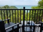 Balcony furniture and view