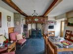 Plenty of space for family dining in the lovely beamed dining room