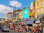 Camden town: 15 minutes by bus.