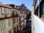West view of the Rua da Fabrica street from the Studio's windows