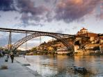 Dom Luis I Bridge, Ribeira area and Douro River - 850m - 9 min walk