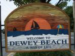 Dewey Beach is a five minute stroll from the house