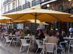 Don't forget to visit Café 'A Brasileira' at Chiado, with the bronze statue of poet Fernando Pessoa