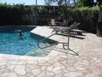 The pool is wonderful! Beautiful tropical landscaping, BBQ & shower too!